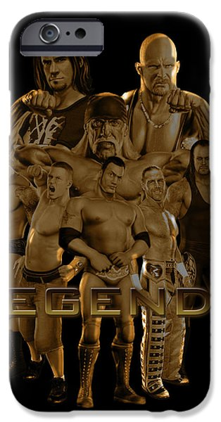 Punk iPhone Cases - WWE Legends by GBS iPhone Case by Anibal Diaz