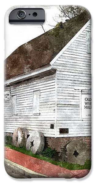 Wye Mill - Water Color Effect iPhone Case by Brian Wallace