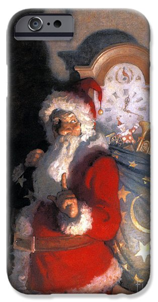 Aod iPhone Cases - Wyeth: Old Kris (kringle) iPhone Case by Granger