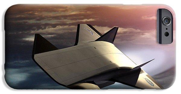 Aeronautics iPhone Cases - X-43b Aircraft iPhone Case by NASA / Science Source