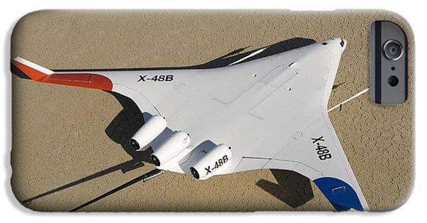 Aeronautics iPhone Cases - X-48b Blended Wing Body Unmanned Aerial iPhone Case by Stocktrek Images