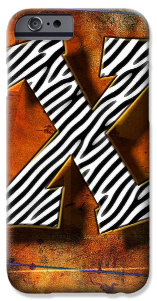 Abstract Digital Pyrography iPhone Cases - X iPhone Case by Mauro Celotti