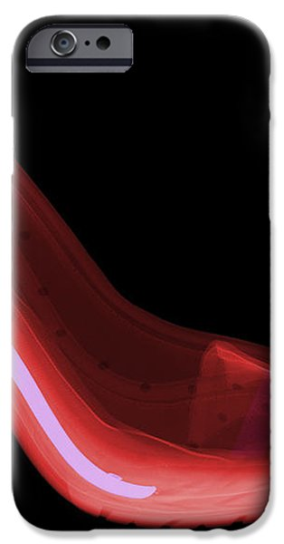 X-ray Of High Heel Shoes iPhone Case by Ted Kinsman