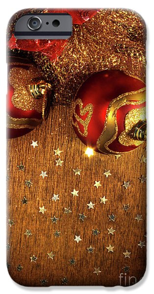 Concept Photographs iPhone Cases - Xmas Balls iPhone Case by Carlos Caetano