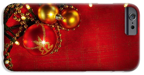 Backdrop iPhone Cases - Xmas Frame iPhone Case by Carlos Caetano