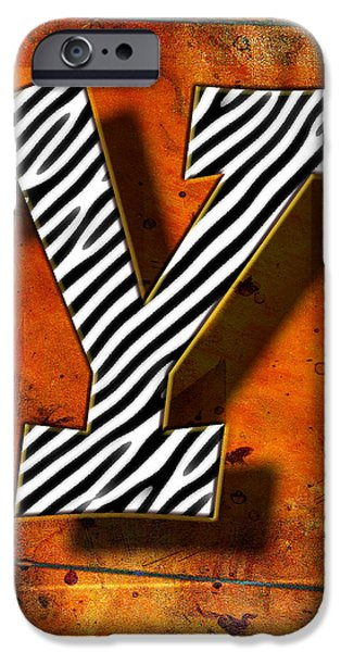 D.c. Pyrography iPhone Cases - Y iPhone Case by Mauro Celotti