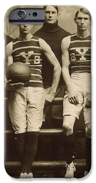 YALE BASKETBALL TEAM, 1901 iPhone Case by Granger
