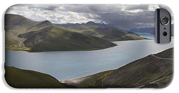 Tibetan Buddhism iPhone Cases - Yamdrok-tso Also Called Yamdrok Lake Or iPhone Case by Phil Borges