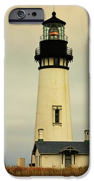 Lightstations iPhone Cases - Yaquina Head Lighthouse - Newport OR iPhone Case by Christine Till