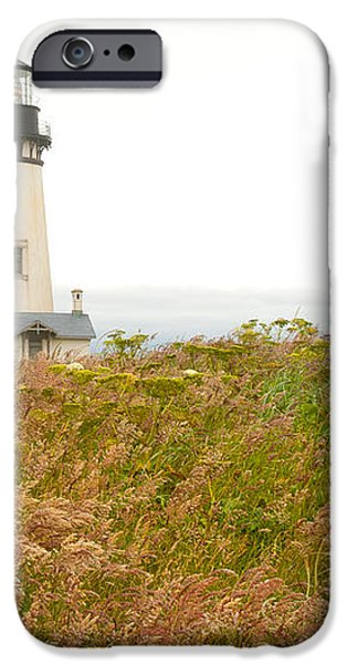 Yaquina Head Lighthouse in Oregon iPhone Case by Artist and Photographer Laura Wrede