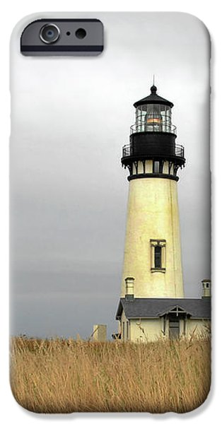 Yaquina Lighthouses - Yaquina Head Lighthouse Western Oregon iPhone Case by Christine Till