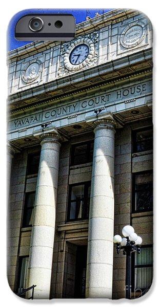 Best Sellers -  - Prescott iPhone Cases - Yavapapi County Court House - Prescott  iPhone Case by Saija  Lehtonen