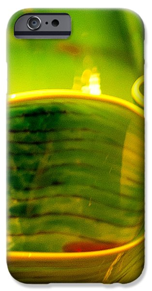 Yellow and Green iPhone Case by Artist and Photographer Laura Wrede