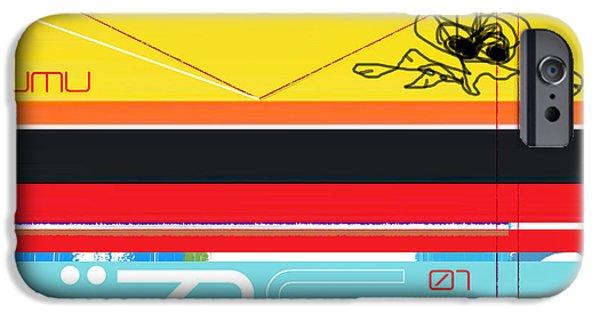 Graphic Design iPhone Cases - Yellow Bird iPhone Case by Naxart Studio