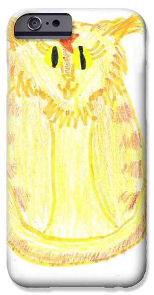 Yellow Cat iPhone Case by Jeannie Atwater Jordan Allen