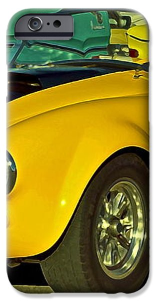 Yellow Cobra iPhone Case by Gwyn Newcombe