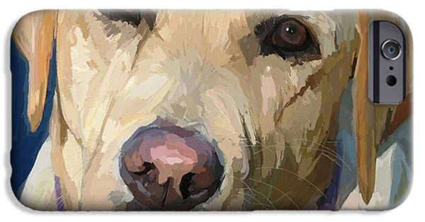 Yellow Labs iPhone Cases - Yellow Dog iPhone Case by Patti Siehien