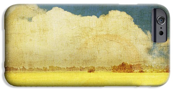Field. Cloud iPhone Cases - Yellow field iPhone Case by Setsiri Silapasuwanchai