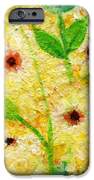 Yellow Flowers Laugh in Joy iPhone Case by Ashleigh Dyan Bayer