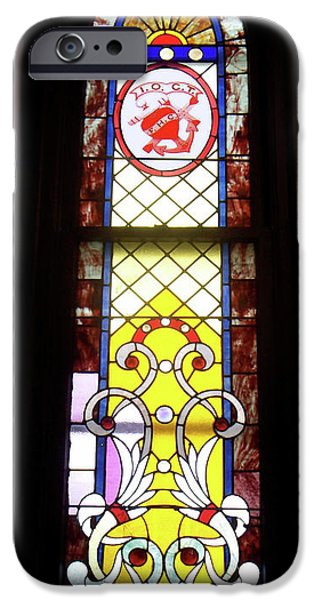 Yellow Stained Glass Window iPhone Case by Thomas Woolworth