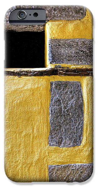 Opening iPhone Cases - Yellow Stone Wall iPhone Case by Joana Kruse