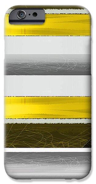 Yellow Stripes iPhone Case by Naxart Studio