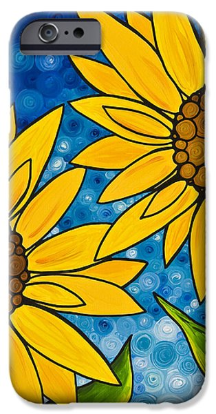 Yellow Sunflowers iPhone Case by Sharon Cummings