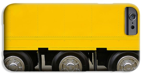 Trailers iPhone Cases - Yellow Truck iPhone Case by Carlos Caetano