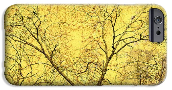 Abstract Digital Art iPhone Cases - Yellow Wall iPhone Case by Skip Nall