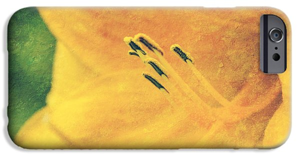 Aimelle Photographs iPhone Cases - Yellows - textured iPhone Case by Aimelle