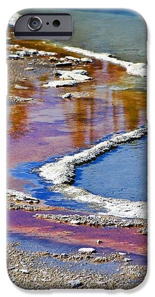 Yellowstone Abstract I iPhone Case by Teresa Zieba