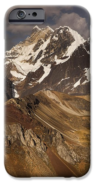 Mountains iPhone Cases - Yerupaja Chico 6121m In Cordillera iPhone Case by Colin Monteath