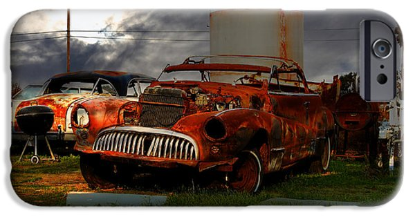 Junk Yard iPhone Cases - Yesterday Came Early . Tomorrow Is Almost Over 2 iPhone Case by Wingsdomain Art and Photography