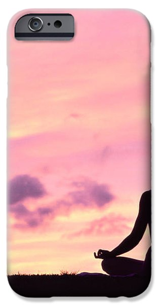 Yoga On Beach iPhone Case by Greg Vaughn - Printscapes