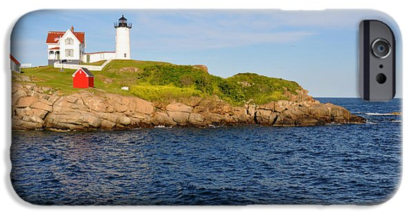 Nubble Lighthouse iPhone Cases - Yorks Nubble Light iPhone Case by Amy Warnke