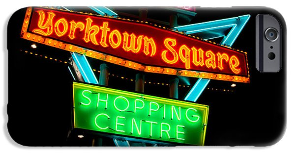 Neon iPhone Cases - Yorktown Square iPhone Case by Cale Best