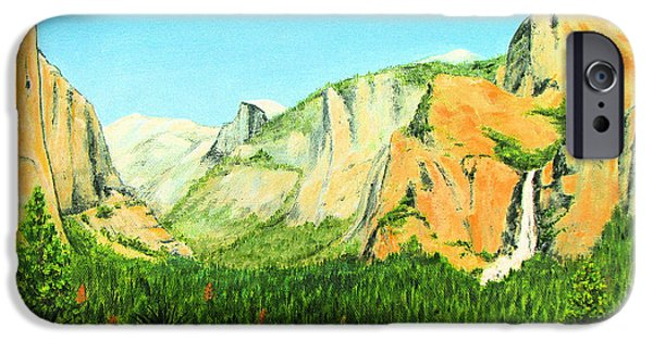 Half Dome Paintings iPhone Cases - Yosemite National Park iPhone Case by Jerome Stumphauzer