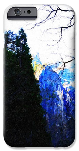 Yosemite Snow Top Mountains iPhone Case by Wingsdomain Art and Photography