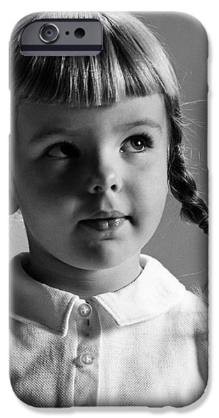 Young Girl iPhone Case by Hans Namuth and Photo Researchers