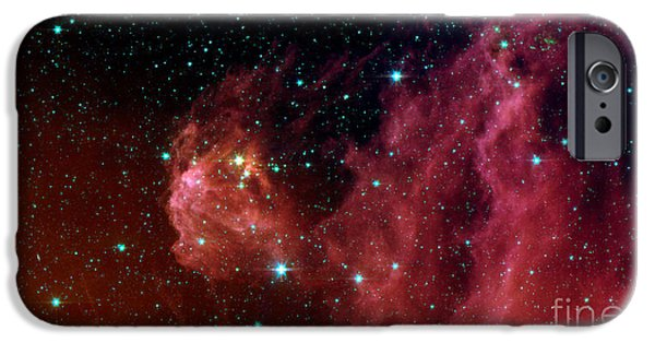 Starfield iPhone Cases - Young Stars Emerge From Orions Head iPhone Case by Stocktrek Images