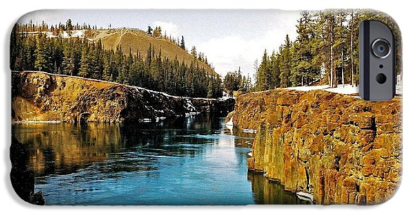 Yukon Territory iPhone Cases - Yukon River and Miles Canyon - Whitehorse iPhone Case by Juergen Weiss