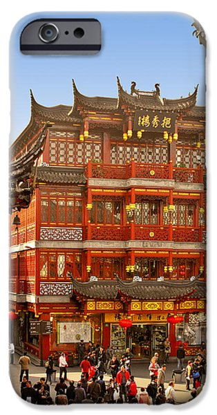 Yuyuan - A Bizarre Bazaar iPhone Case by Christine Till