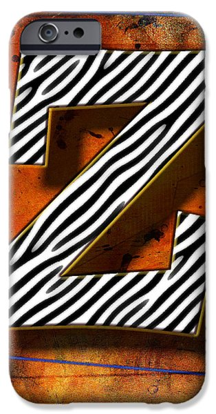 D.c. Pyrography iPhone Cases - Z iPhone Case by Mauro Celotti