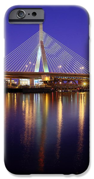 Best Sellers -  - Charles River iPhone Cases - Zakim at Twilight II iPhone Case by Rick Berk