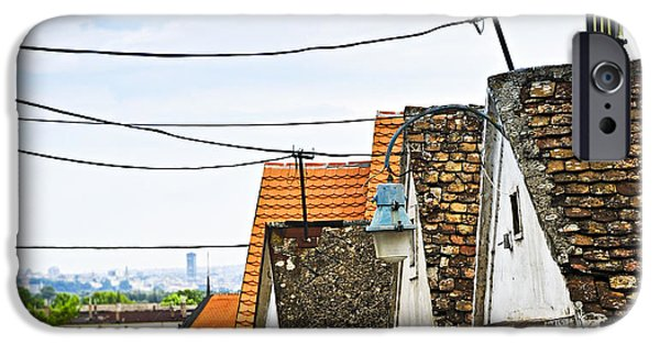 Tile Roofs iPhone Cases - Zemun rooftops in Belgrade iPhone Case by Elena Elisseeva