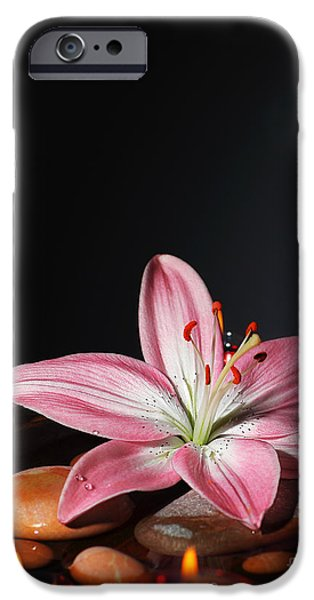 """indoor"" Still Life Photographs iPhone Cases - Zen atmosphere at spa salon iPhone Case by Anna Omelchenko"