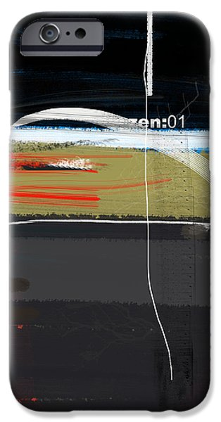 Office Space Paintings iPhone Cases - Zen iPhone Case by Naxart Studio