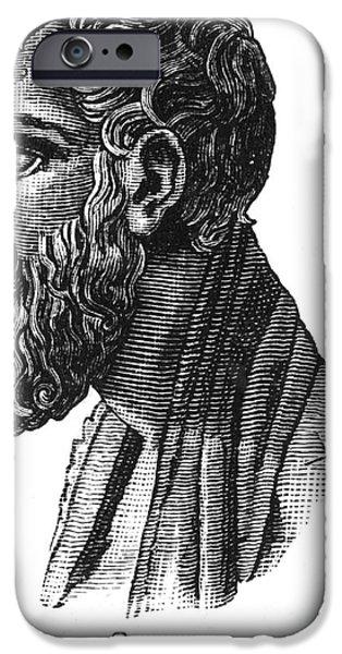 Statue Portrait iPhone Cases - ZENO OF ELEA (c495-c430 B.C.) iPhone Case by Granger