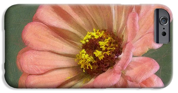Zinnias iPhone Cases - Zinnia Painterly iPhone Case by Ernie Echols