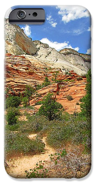 Zion National Park - A Picturesque Wonderland iPhone Case by Christine Till